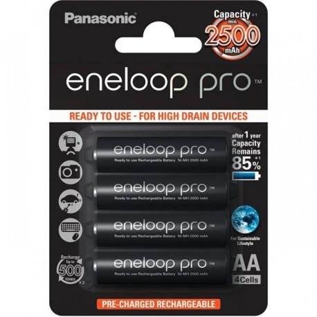 Аккумулятор Panasonic eneloop pro BK-3HCDE/4BE 2500mAh AA BL4