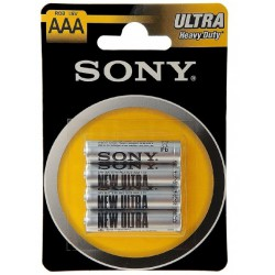 Батарейка Sony R03-4BL NEW ULTRA