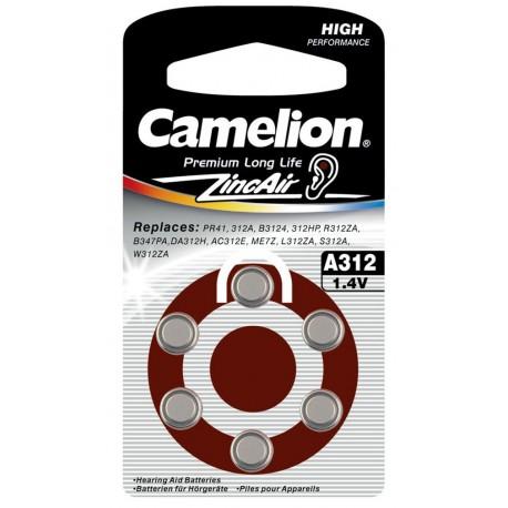 Батарейка для слуховых аппаратов Camelion A312-BP6 BL6