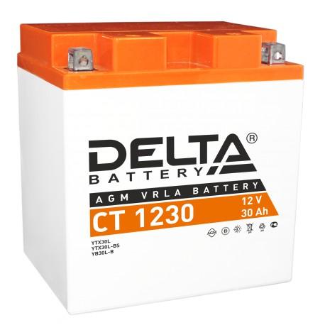 Аккумуляторная батарея стартерная Delta CT 1230 12V 30Ah