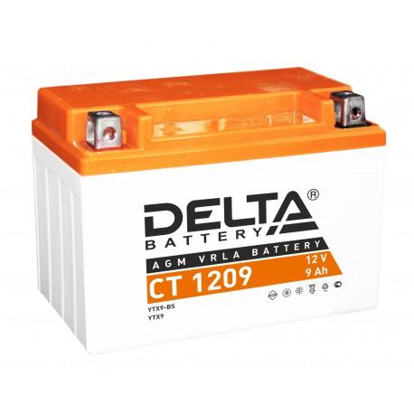 Аккумуляторная батарея стартерная Delta CT 1209 12V 9Ah