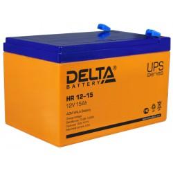 Свинцово-кислотный аккумулятор Delta HR 12-15 12V 15Ah