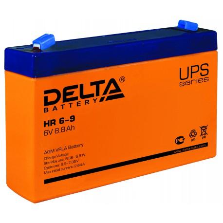 Свинцово-кислотный аккумулятор Delta HR 6-9 6V 9Ah