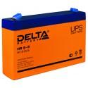 Свинцово-кислотный аккумулятор Delta HR 6-9 (634W) 6V 8.8Ah