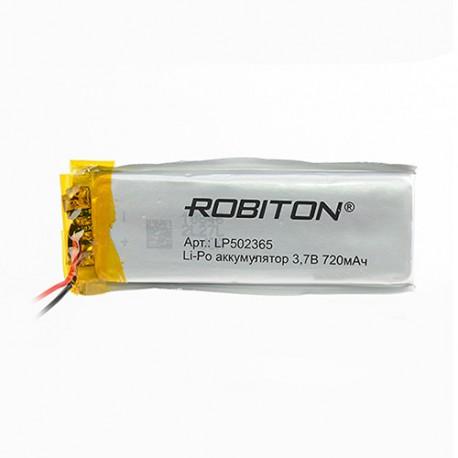 Аккумулятор Robiton LP502365 3.7В 720mAh PK1