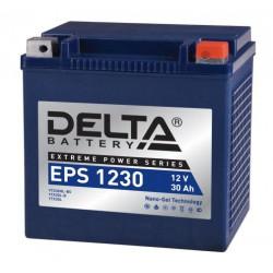 Гелевый мотоаккумулятор Delta EPS 1230 (YTX30HL-BS, YTX30L-BS)  12V 30а/ч NANO-GEL