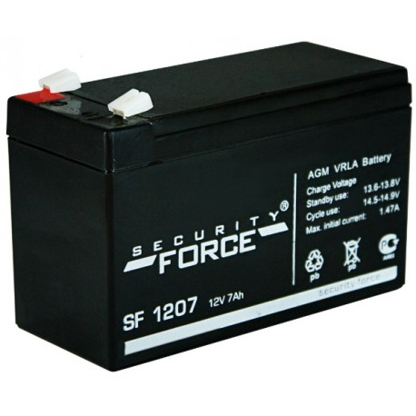 Свинцово-кислотный аккумулятор Security Force  SF1207 12V 7Ah