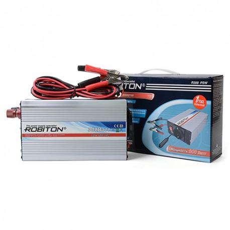 Инвертор 12V-220V ROBITON R300 PSW 300W с чистой синусоидой BL1