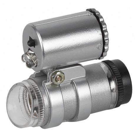 Фонарь с микроскопом M45 ЭРА 45x, 2xLED