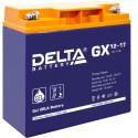 Гелевый аккумулятор Delta GX 1217 12V 17Ah