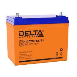 Свинцово-кислотный аккумулятор Delta DTM 1275 L 12V 75Ah