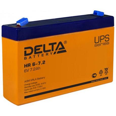 Свинцово-кислотный аккумулятор Delta HR 6-7.2 6V 7.2Ah