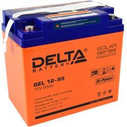 Свинцово-кислотный аккумулятор Delta GEL 1255 12V 55Ah