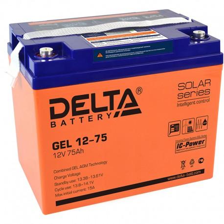 Гелевый аккумулятор Delta GEL 1275 12V 75Ah