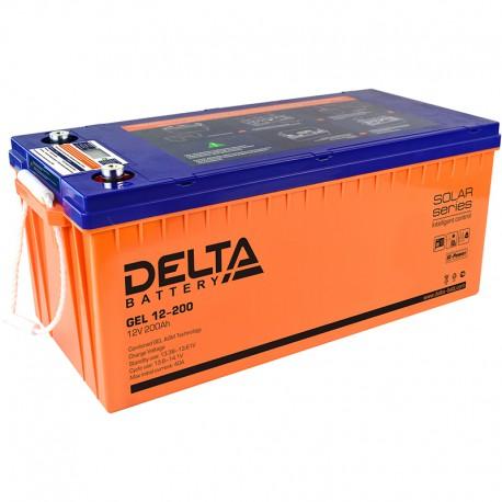 Гелевый аккумулятор Delta GEL 12200 12V 200Ah