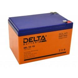 Гелевый аккумулятор Delta GEL 12-15 12V 15Ah