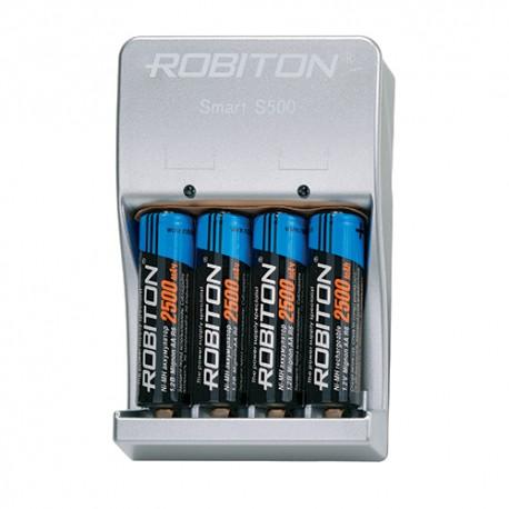 ЗУ с аккумуляторами Robiton Smart S500-4MHAA BL1