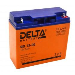 Гелевый аккумулятор Delta GEL 12-20 12V 20Ah