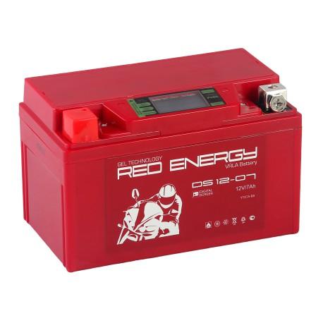 Гелевый мото аккумулятор Red Energy DS 1207 12V 7Ah