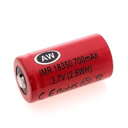 AW  Li-Ion аккумулятор 18350 700mAh