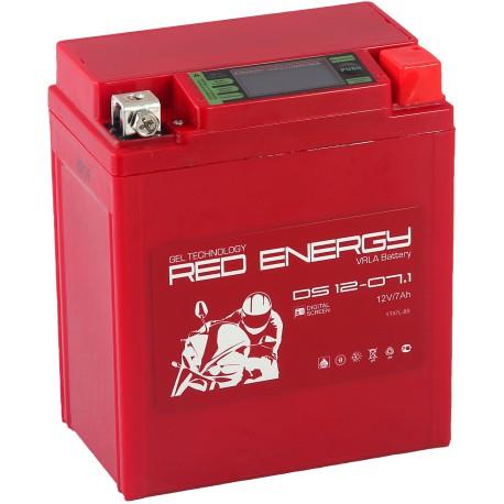 Гелевый мото аккумулятор Red Energy DS 1207.1 12V 7Ah