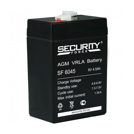 Свинцово-кислотный аккумулятор Security Force SF 6045 6V 4.5Ah