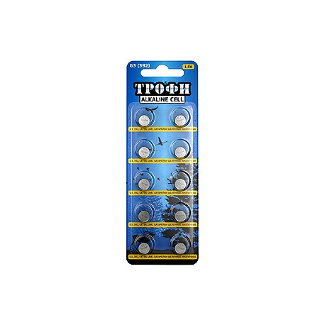 Батарейка часовая Трофи G3 (392) LR736, LR41