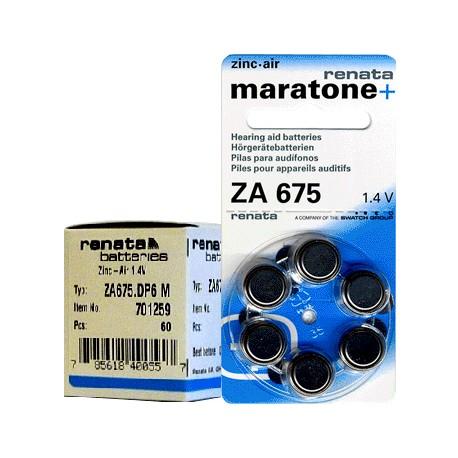 Батарейки для слуховых аппаратов Renata ZA 675 1,4V