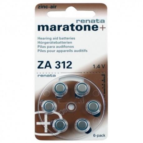 Батарейки для слуховых аппаратов  Renata ZA312 PR41 1,4V