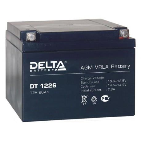 Свинцово-кислотный аккумулятор DELTA DT 1226 12V 26Ah
