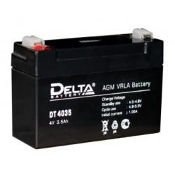Свинцово-кислотный аккумулятор DELTA DT 4035 4V 3.5Ah