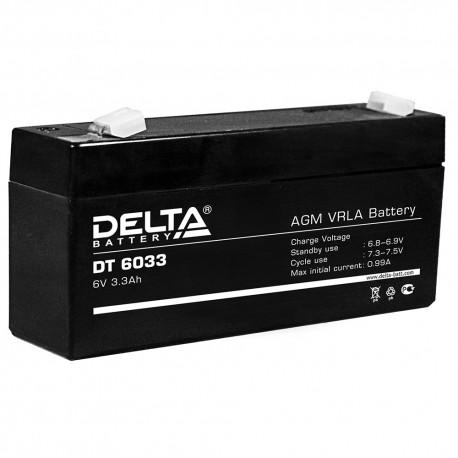 Свинцово-кислотный аккумулятор DELTA DT 6033 6V 3.3Ah