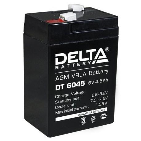 Свинцово-кислотный аккумулятор DELTA DT 6045 6V 4.5Ah
