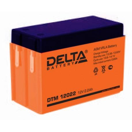 Свинцово-кислотный аккумулятор DELTA DTM 12022 12v 2.2Аh  (103х45х73)