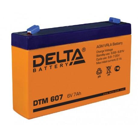 Свинцово-кислотный аккумулятор DELTA DTM 607 6V 7Ah