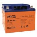 Свинцово-кислотный аккумулятор Delta HR 1240 12V 40Ah