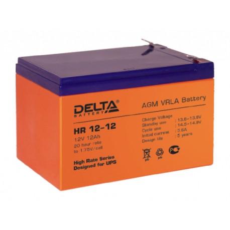Свинцово-кислотный аккумулятор DELTA HR 12-12 12V 12 Ah