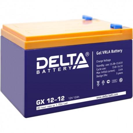 Свинцово-кислотный аккумулято Delta GX 1212 12V 12Ah