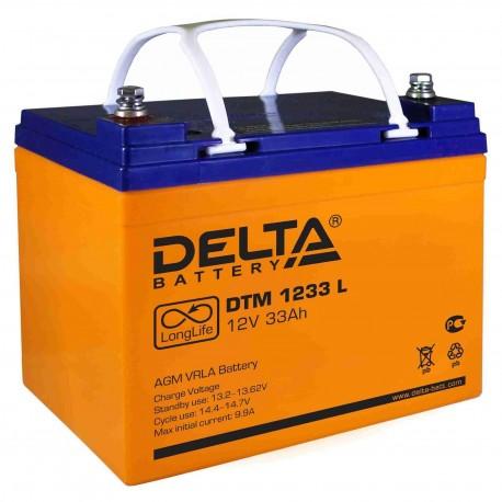 Свинцово-кислотный аккумулятор Delta DTM 1233 L
