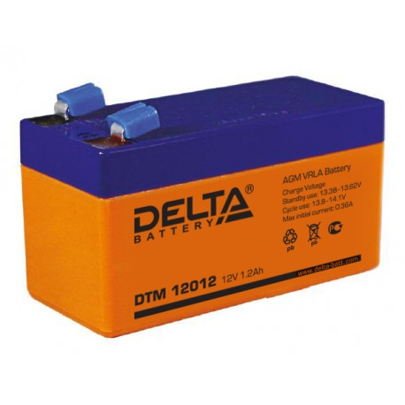 Свинцово-кислотный аккумулятор DELTA DTM 12012 12v 1.2Аh