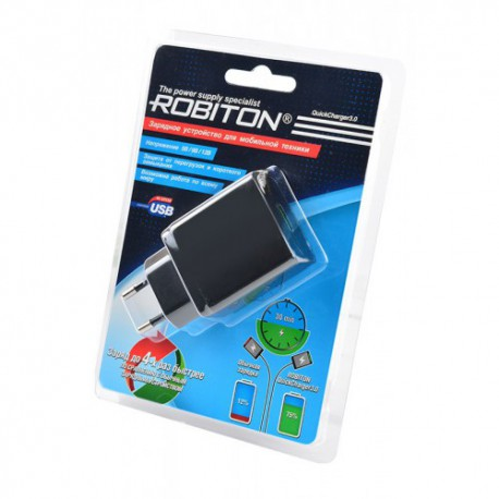 ROBITON QuickCharger3.0 + MicroUSB, 1м BL1