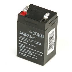 Аккумулятор ROBITON VRLA4-3 4В 3А запасный аккумулятор к прожекторам HPD