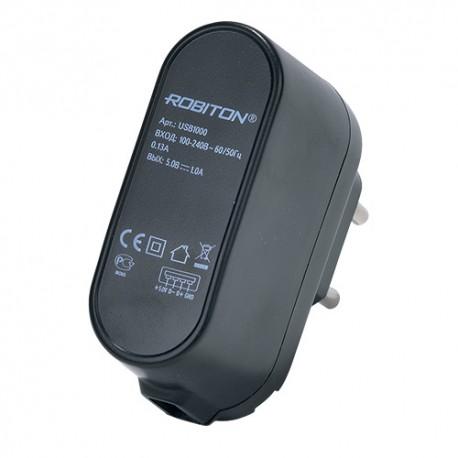 Адаптер/блок питания ROBITON USB1000 1000mA с USB входом BL 1