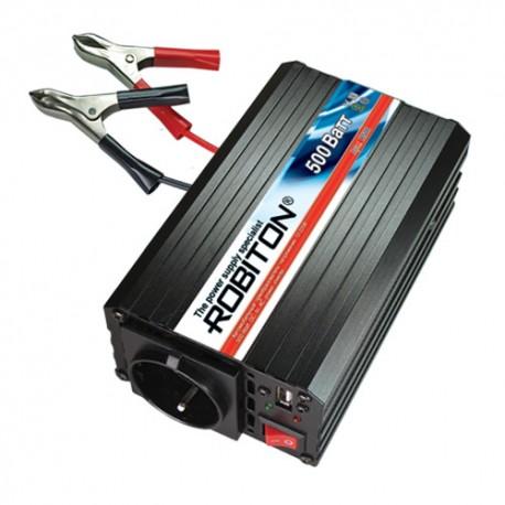 Инвертор 12V-220V ROBITON R500 500W с USB выходом