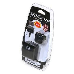 Адаптер/блок питания автомобильный Robiton App03 Universal Charging Kit 2.1A IPhone/iPad
