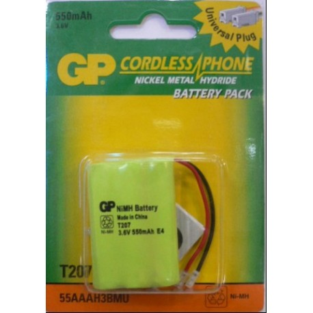 Батарея акум. GP Cordless Phone T207-U1 55AAAH3BMU BL 1