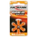 Батарейки для слуховых аппаратов Ansmann Zinc-Air 5013243 13 UK BL6