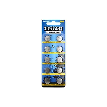 Батарейка часовая Трофи G13 (357) LR1154, LR44