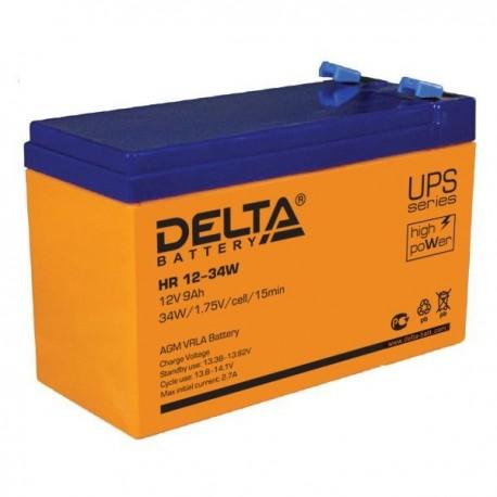 Свинцово-кислотный аккумулятор Delta HR 12-34W 12V 9Ah