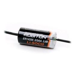 Элемент питания Robiton ER14335-AX 2/3 AA с аксиальными выводами